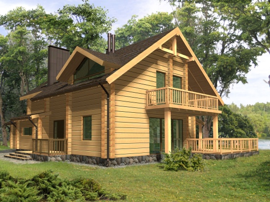 Log house plans. Designs catalogue