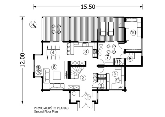 Log house plans designs catalogue for 100m2 floor plan