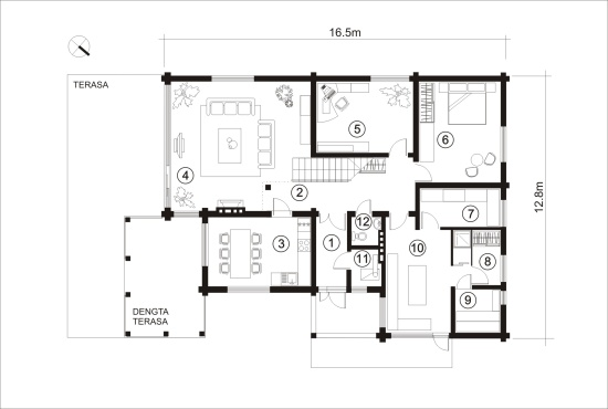 Log house plans designs catalogue for Modern house plans 150m2