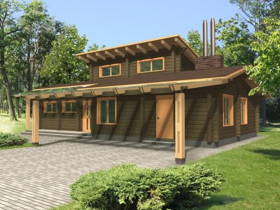 Log house plans. Designs catalogue
