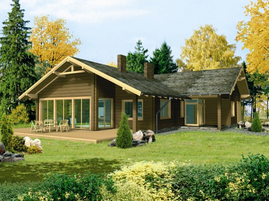 Log house plans L12 on floor plans of houses